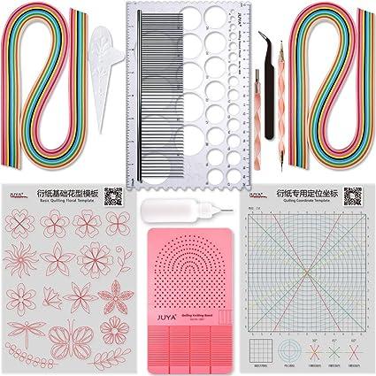 Grid Guide pour quilling Tableau pour la cr/éation de bandes de papier Yurroad pour quilling Outil Quil Planche avec broches Bo/îte de rangement