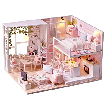 Outstanding Spilay Diy Miniature Dollhouse Wooden Furniture Kit Handmade Mini Modern Apartment Model With Dust Cover Music Box 1 24 Scale Creative Doll House Download Free Architecture Designs Viewormadebymaigaardcom