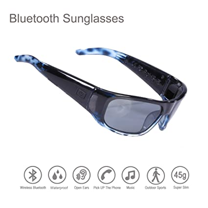 Amazon.com: Gafas de sol impermeables con Bluetooth y ...
