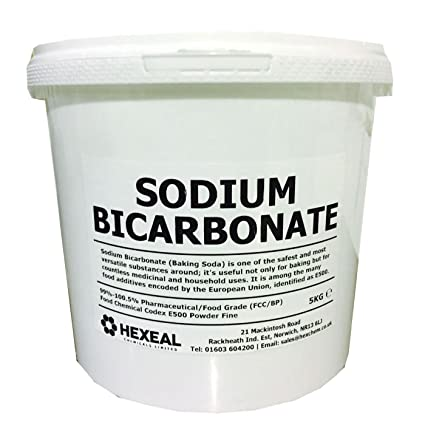 Hexeal SODIUM BICARBONATE of Soda | 5KG BUCKET | 100% BP/Food Grade | Bath,  Baking, Cleaning
