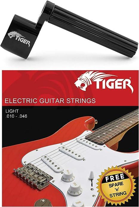 Tiger - Cuerdas para guitarra eléctrica y cuerda: Amazon.es ...