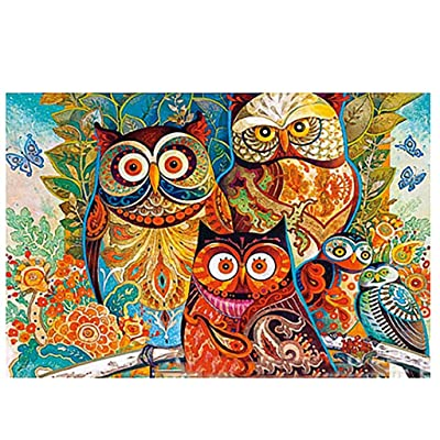"Drindf 1000 Piece Jigsaw Puzzle - Animal Landscape Pattern Picture Large Puzzle Fun Game for Kids Adults - 27.56"" x 19.69"" (1000 Piece, B): Home & Kitchen"