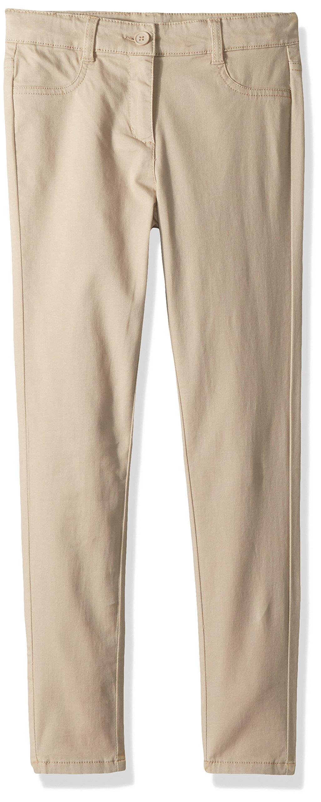 Nautica Big Girls' Twill Pant, Khaki/Five Pocket, 16