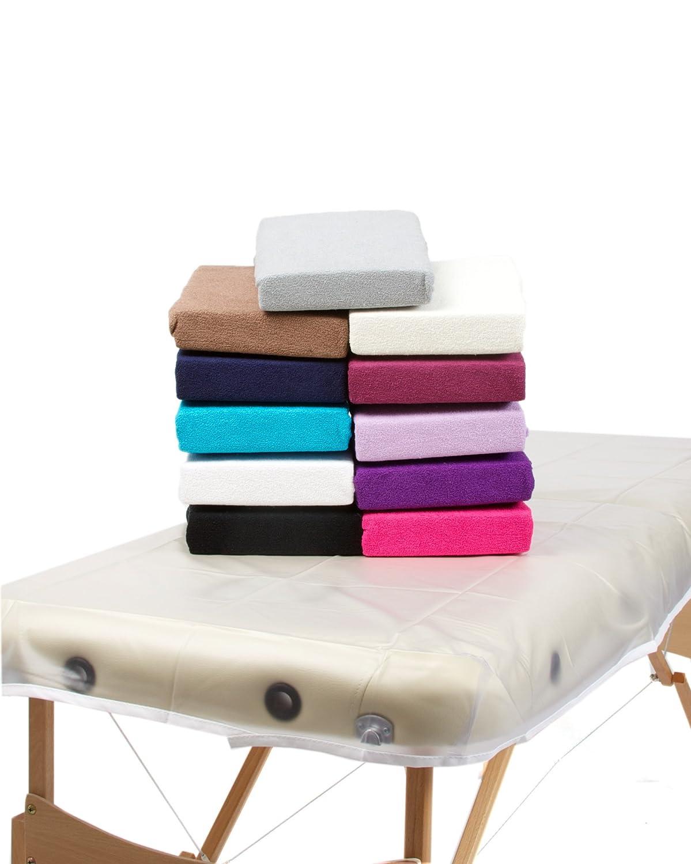 TowelsRus Couverture Classic De Massage pour le Visage Rose Tissu Extensible en Plolycoton Trou pour Table de masssage avec orifice