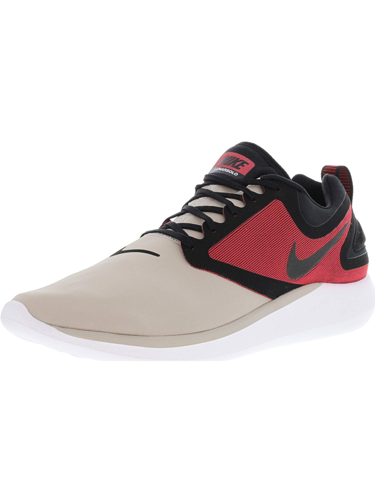 the latest dabf5 a887f Galleon - NIKE Men s Lunarsolo Cobblestone White-Tough Red Ankle-High  Running Shoe - 11M