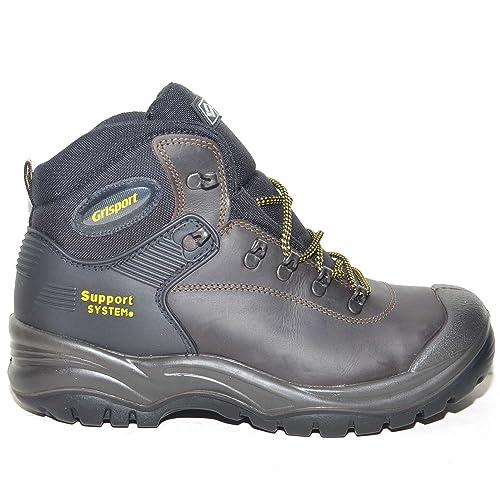 abf48f2958d38 Malu Shoes Scarpe Uomo Lavoro Antinfortunistiche Grisport Marrone Cortina S3  HRO Hi SRC 703LDV.17