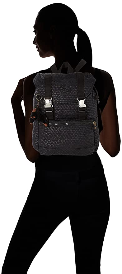 Amazon.com: Kipling Experience S Small Backpack Black Scale Emb: The Necessity limited