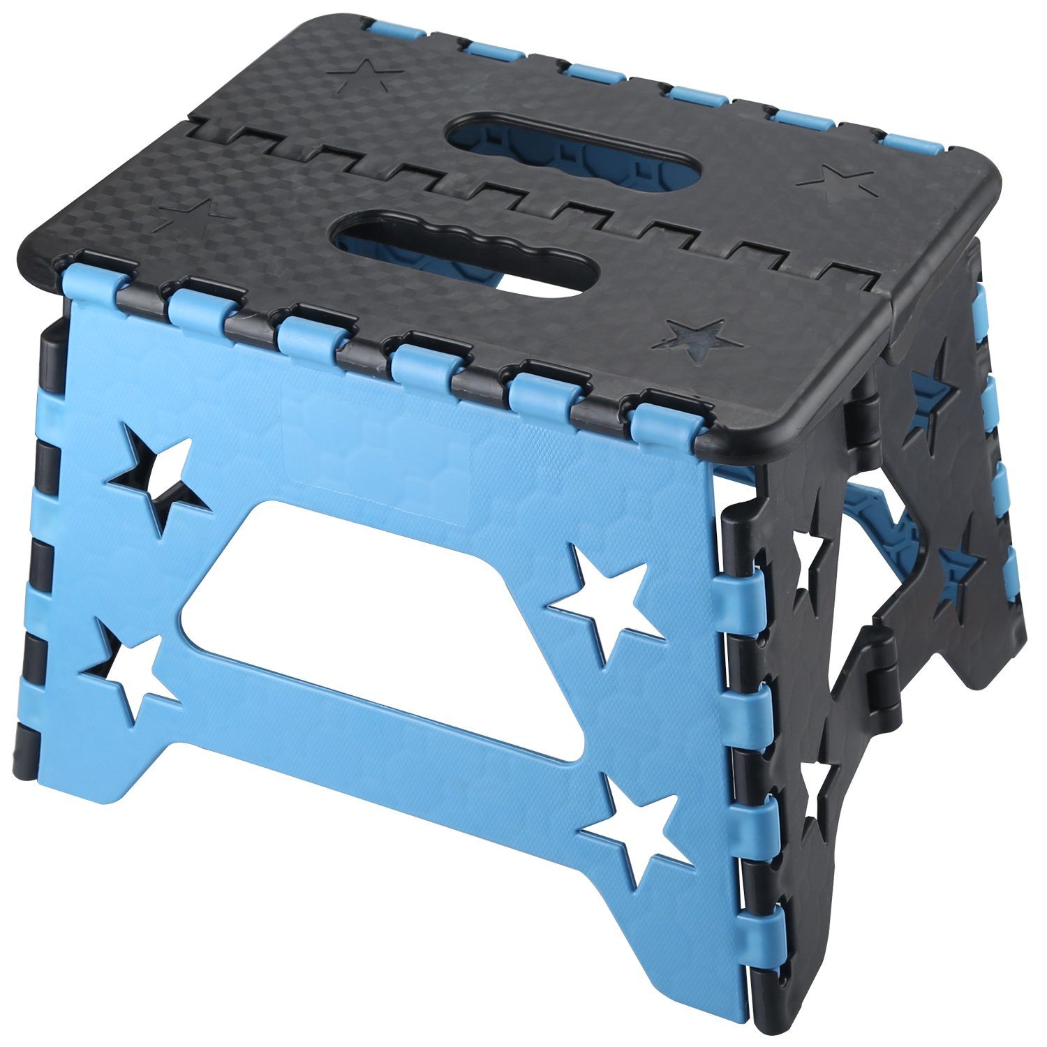 NORZERO Step Stool Folding Step Stool Super Strong Foldable Step Stool for Adults and Kids, Non Slip Kitchen Stepping, Garden Step Stool, Holds up to 260 lbs