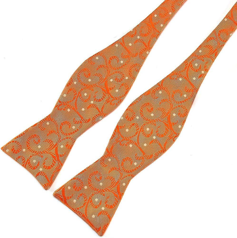 PenSee/ /papillon pois floreale jacquard seta Bow ties-various colori