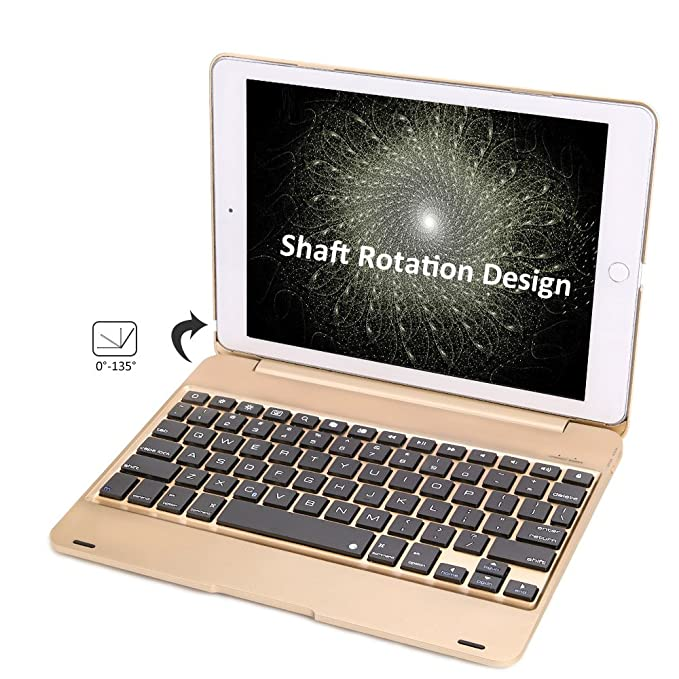 Amazon.com: iPad Pro 9.7 Keyboard Case, iEGrow F19 Wireless Bluetooth Air 2 Keyboard Cover with Auto Sleep/Wake for iPad Air 2 Model A1566/A1567 and Pro 9.7 ...