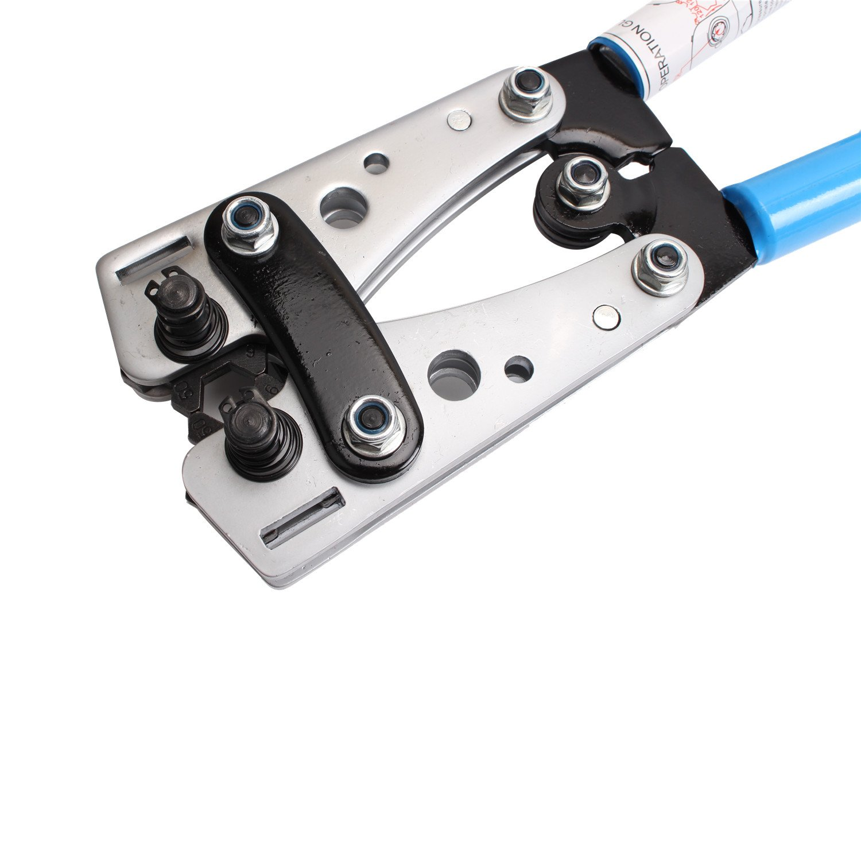 CCLIFE Pinza Crimpatrice 6-50mm/² Pinza a Crimpare Regolabile per Crimpatura e Piegatura