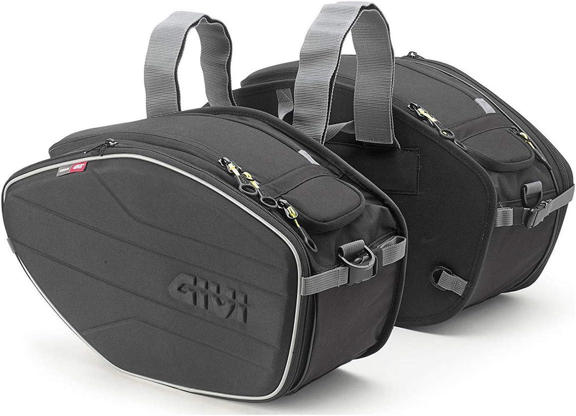 Givi EA101B Easy Bag Alforja para Motos Deportivas, Volumen 19-25 litros, Carga Máxima 5 Kg por Bolso, Negro