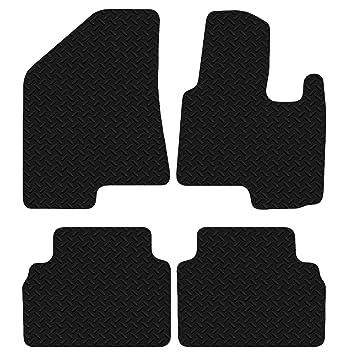 Peugeot Expert Van 2007-2016 Tailored Black 3mm Checkered Rubber Van Floor Mat