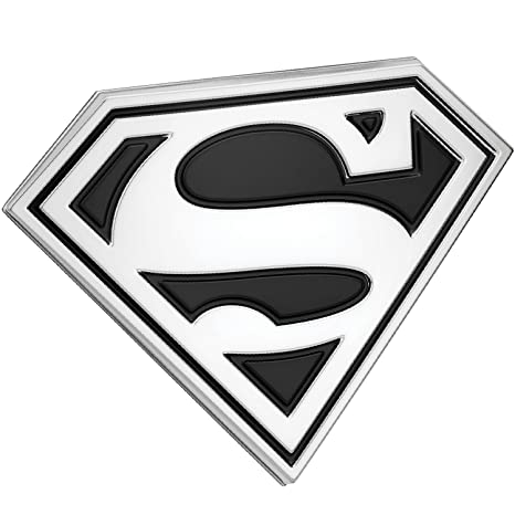 amazon com fan emblems superman logo 3d car emblem black chrome dc