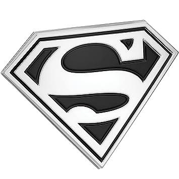 Fan Emblems Superman Logo 3d Car Emblem Blackchrome Dc Comics