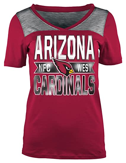 e6faec90ab A-Team Apparel NFL Arizona Cardinals Women s Short Sleeve Crossover V-Neck  Tee