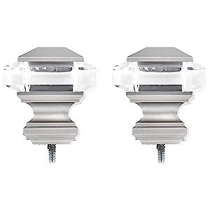 AmazonBasics Squire Acrylic Square Finial - Nickel