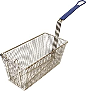Lot45 Large Deep Fry Basket Stainless Steel Fryer Basket, Fry Basket with Handle, Basket Fryer Pan for Deep Frying