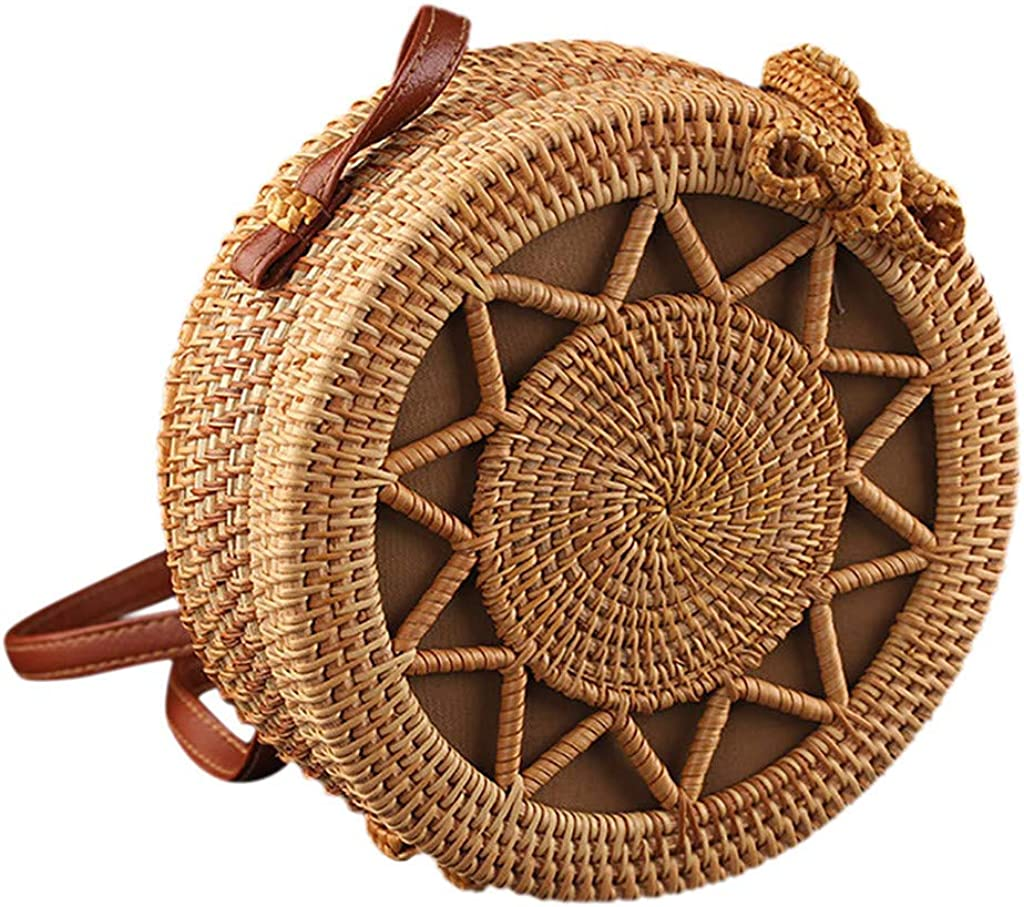 Round Rattan Bags Handwoven...