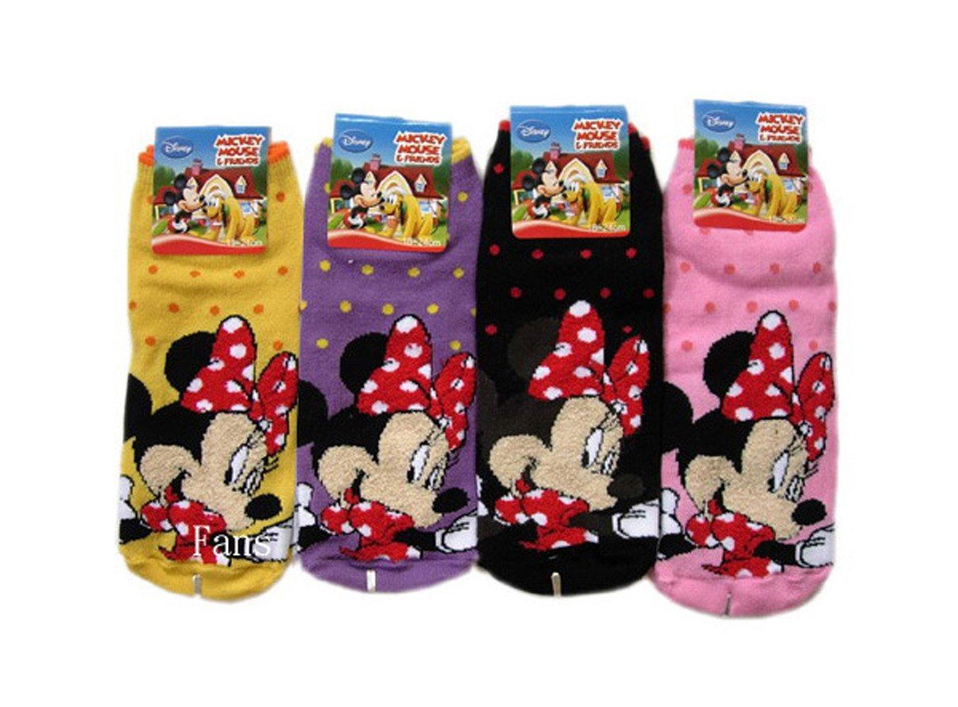 Assorted Childrens Socks Size 9-11 2 Piece Minnie Mouse Socks