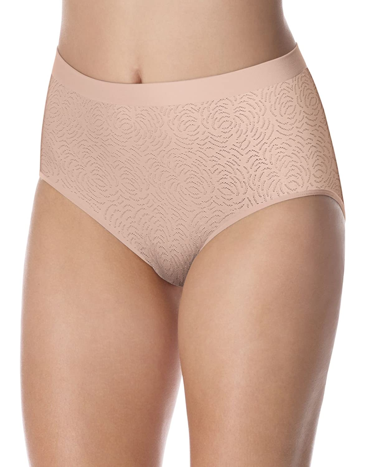 d700ae701eac Bali Comfort Revolution Women`s Microfiber Seamless Brief - Best-Seller!  Nude Damask 10/11 at Amazon Women's Clothing store: