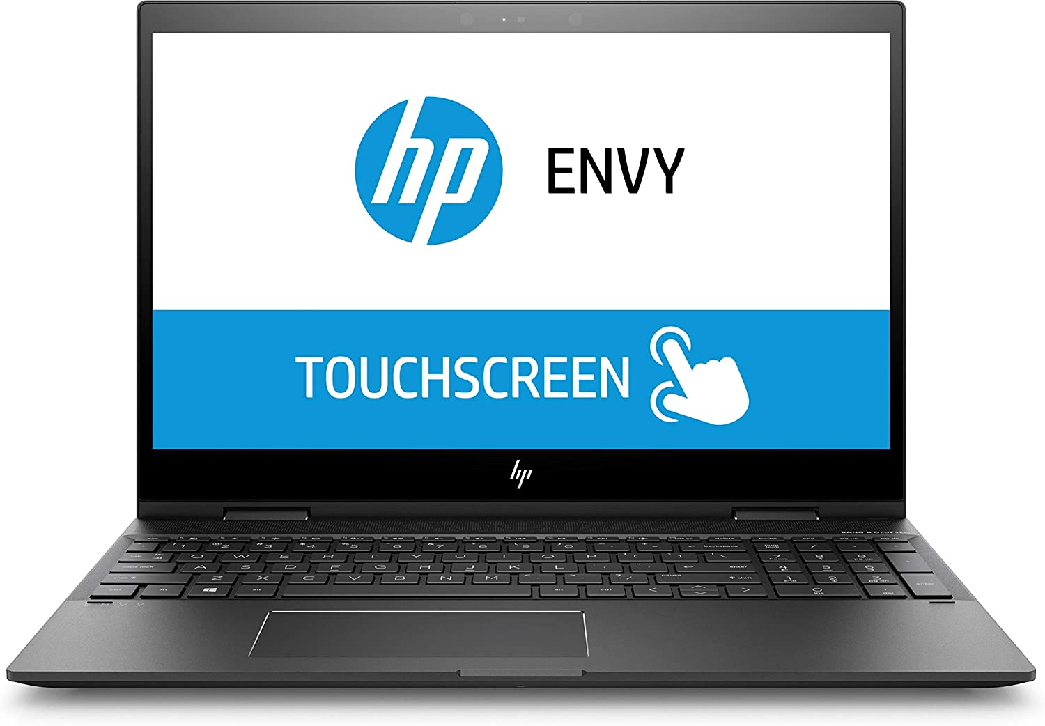 "HP ENVY x360 2-in-1 15.6"" FHD Touch - AMD Ryzen 5-8GB - Radeon RX Vega 8-128GB SSD - Dark Ash"