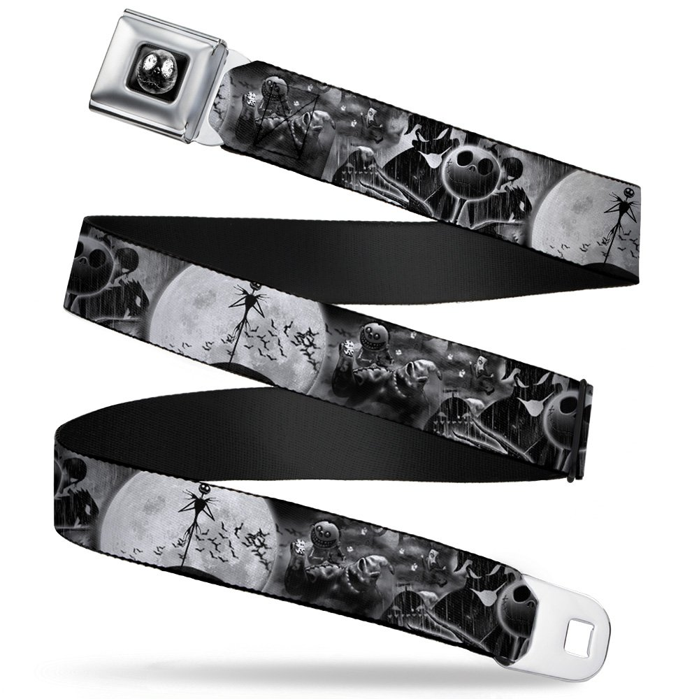 Walt Disney Movies TV Shows Nightmare Before Xmas Scenes Seatbelt Belt Buckle Down DYHZ-WDY283-XL