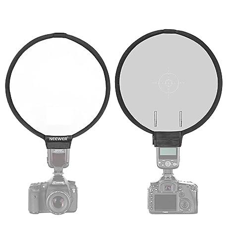 Neewer® 12/30 cm redondo difusor de flash de luz con 18% Tarjeta gris