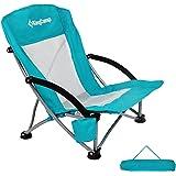 KingCamp(キングキャンプ) ローチェア ビーチ キャンプ アウトドア椅子 折りたたみ コンパクト 釣り KC3841