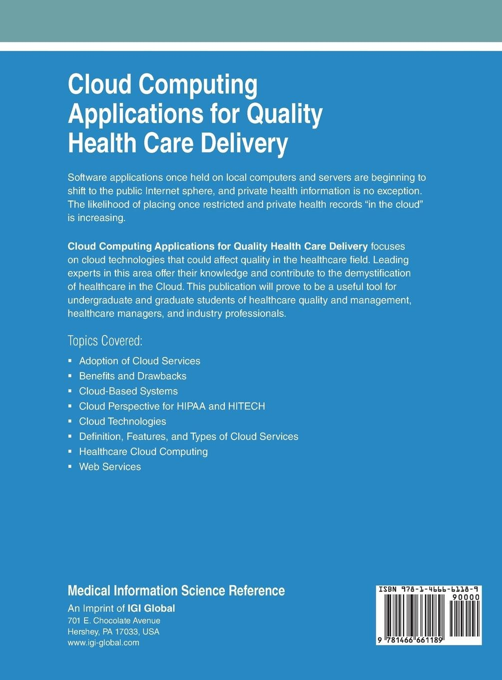Buy Cloud Computing Applications for Quality Health Care