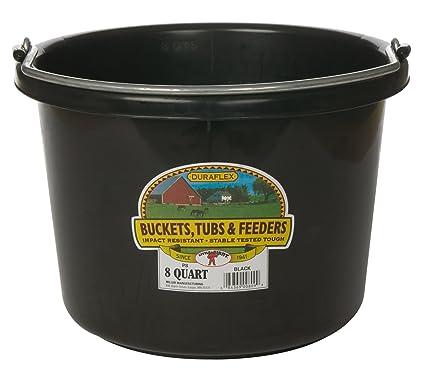 Miller Manufacturing P 8 BLACK Quart Plastic Buckets Black