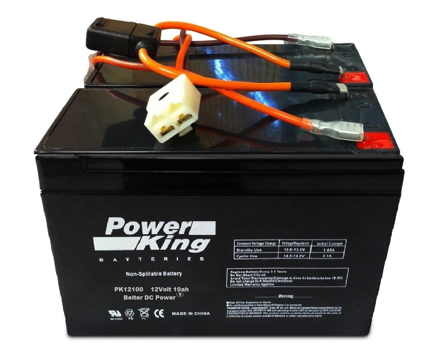 Razor MX350 Dirt Rocket Replacement Batteries and Wiring Harness (Versions 1-8) Beiter DC Power
