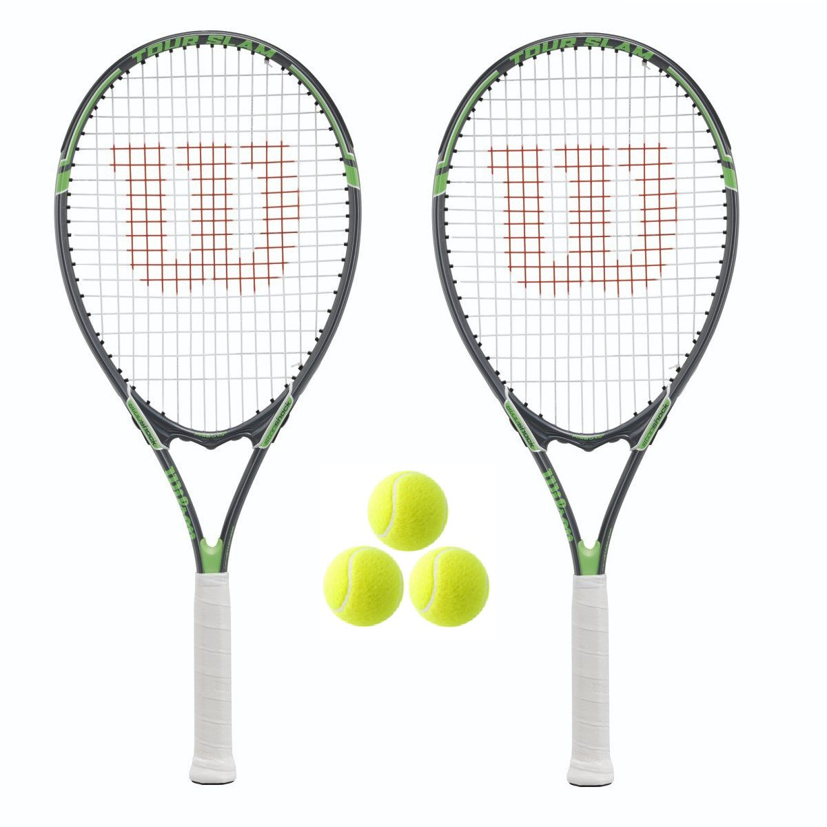 2 x + Wilson Tour Tennis Rackets + Covers With 3 Rackets Strap + 3 Tennis Balls RRP 110 by Wilson B0019HLO44, ガーディアン:8a889150 --- cgt-tbc.fr