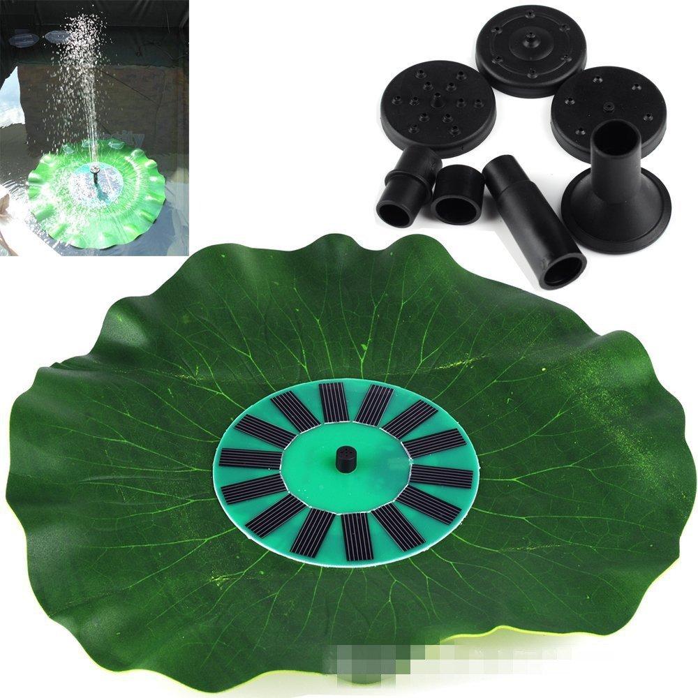 SHINA GY-P-0014H Lotus Pattern Solar Powered Fountain Pool Garden Watering Kits