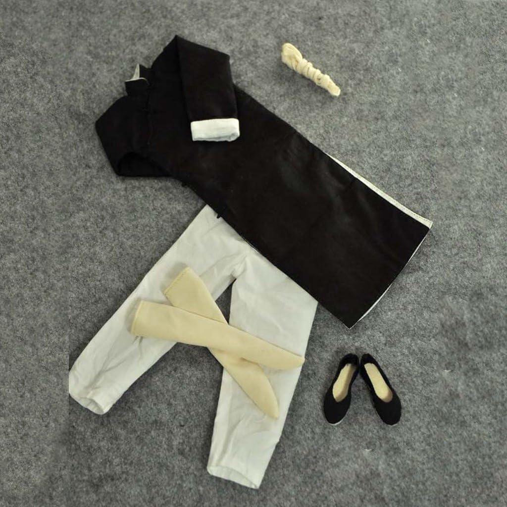 "1//6 Black Long Sleeves Kung Fu Master Yep Man Costume Suit For 12/"" Hot Toys"
