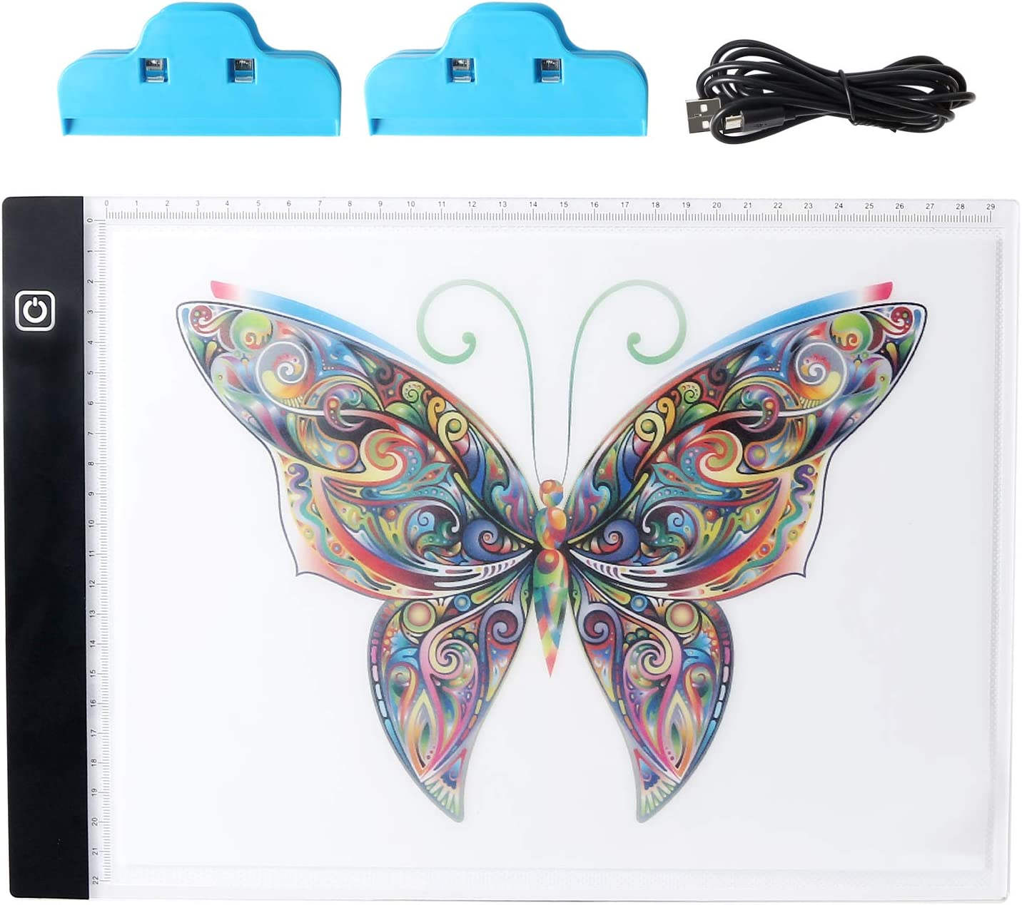 MEYUEWAL Portable LED Light Box A4 Size USB Power Cable Dimmable Brightness LED Artcraft Tracing Light Box Light Pad Light Table for Artists Drawing