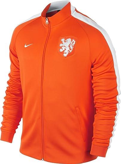 5faf627c16 Nike N98 Dutch Authentic Men Track Jacket Dutch National Safety Orange White  (SIZE