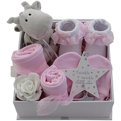 Cesta de regalo para bebé, niña, regalo para bebé, niña, caja de ...