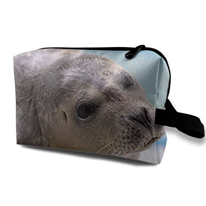 Amazon com: SUNGTER The Curious Seals Travel Cosmetic Bag for Women