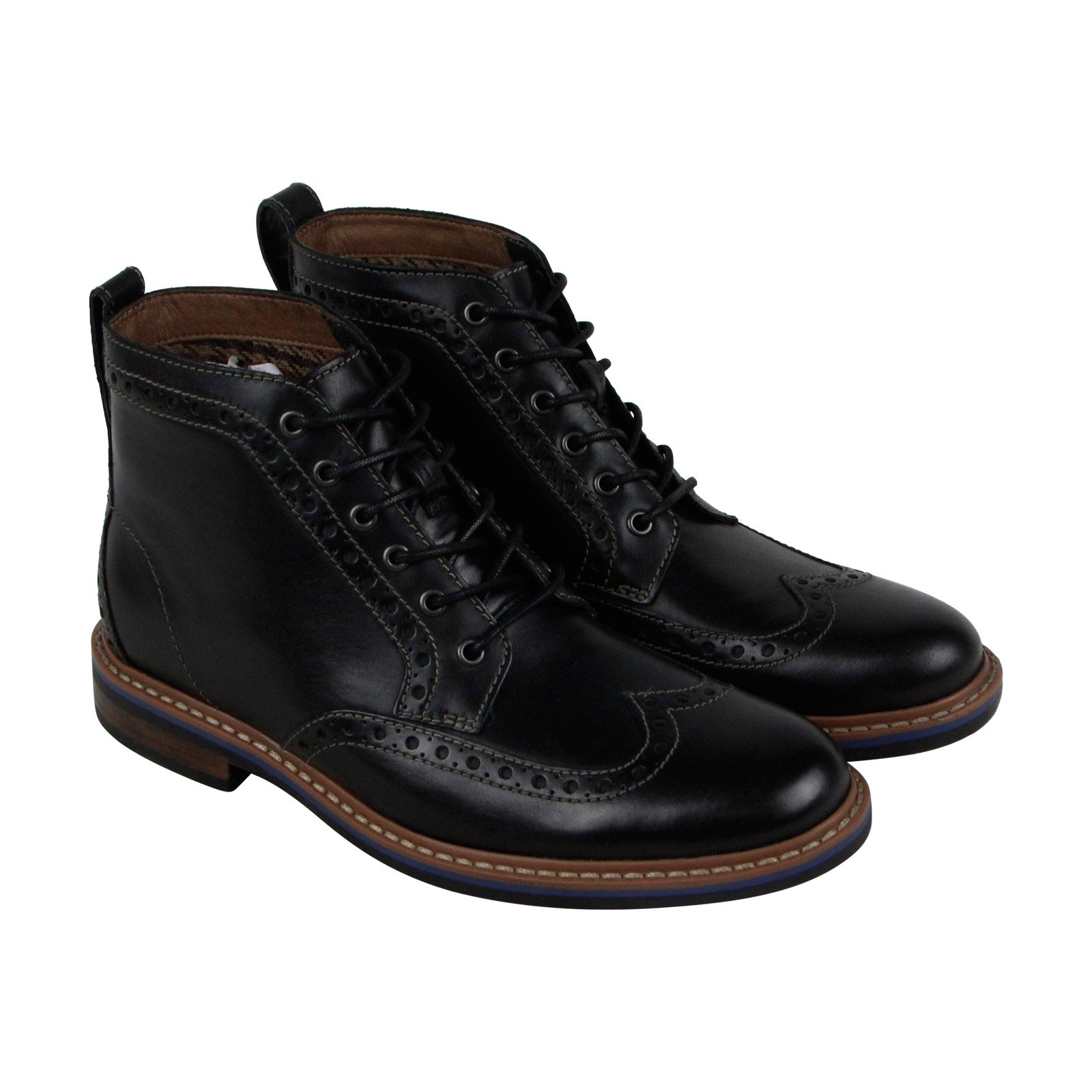 Bostonian Melshire Rise Mens Black Leather Casual Dress Boots Shoes 7.5