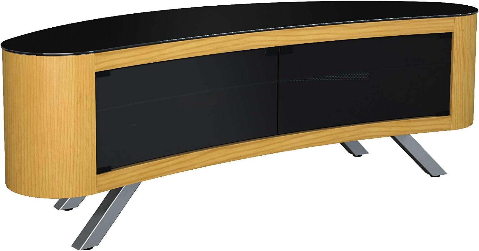 AVF Affinity Plus Bay Plus 1500 - Soporte para televisor Curvo (Cristal Roble/Negro): Amazon.es: Juguetes y juegos