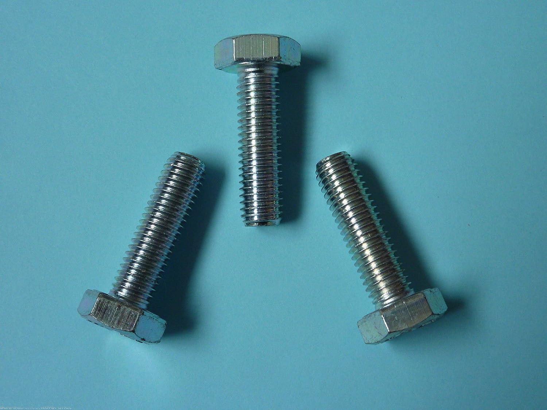 Stahl verzinkt 10 Stk DIN 961 Sechskantschraube M10x1x50 Feingewinde ann/ähernd bis Kopf