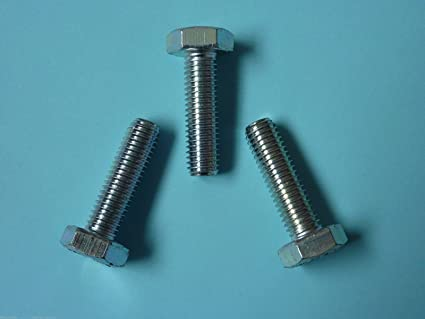 Stahl 5 Stk DIN 961 Sechskantschraube M16x1,5x90 Feingewinde ann/ähernd bis Kopf