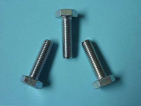 Stahl verzinkt 10 Stk DIN 961 Sechskantschraube M8x1x25 Feingewinde ann/ähernd bis Kopf
