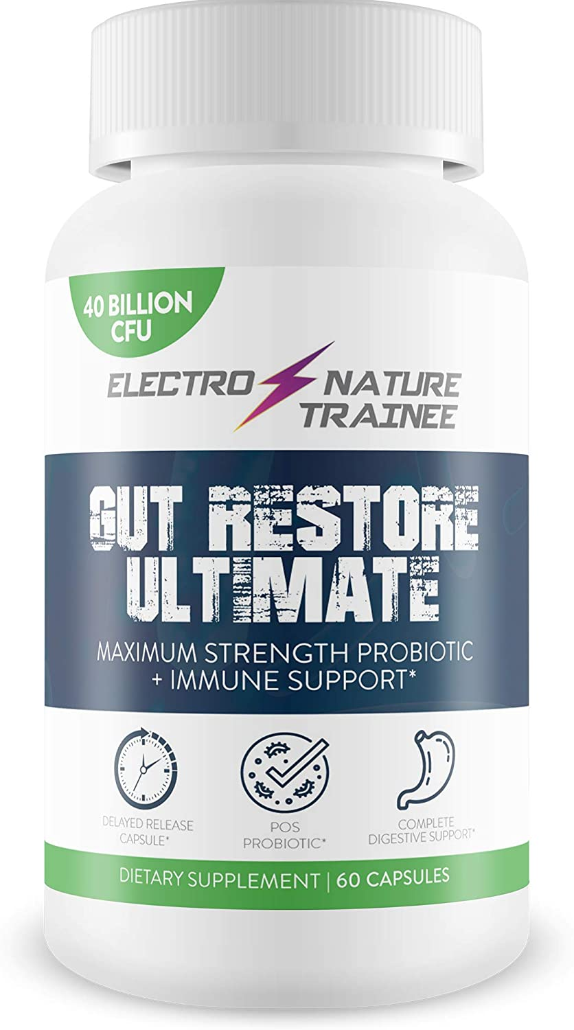Gut Restore Ultimate Probiotic - Restore Your Health and Body Balance with Probiotics - Natural Immune Support - Balance Blood Health - Improved Energy - Improved Mood