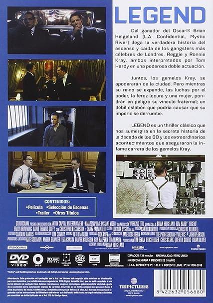 Legend [DVD]: Amazon.es: Tom Hardy, Brian Helgeland, Tom ...