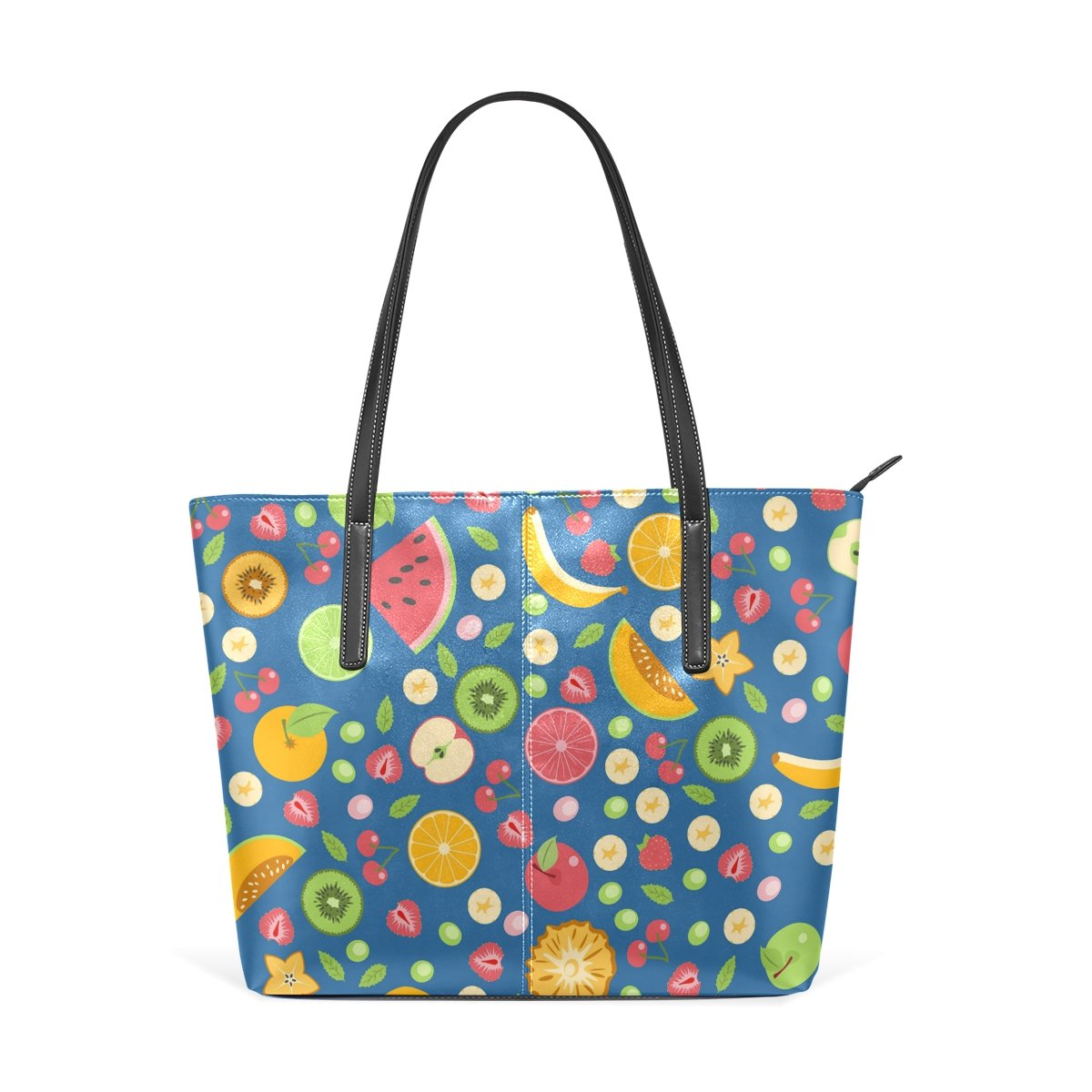 Women Leather Handbags Sweet Fruits Top Handle Shoulder Bags