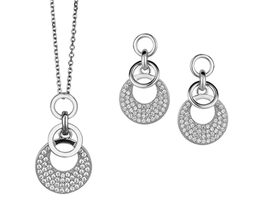 Orphelia Damen-Set: Halskette + Ohrringe 925 Sterling Silber Zirkonia wei SET-5226