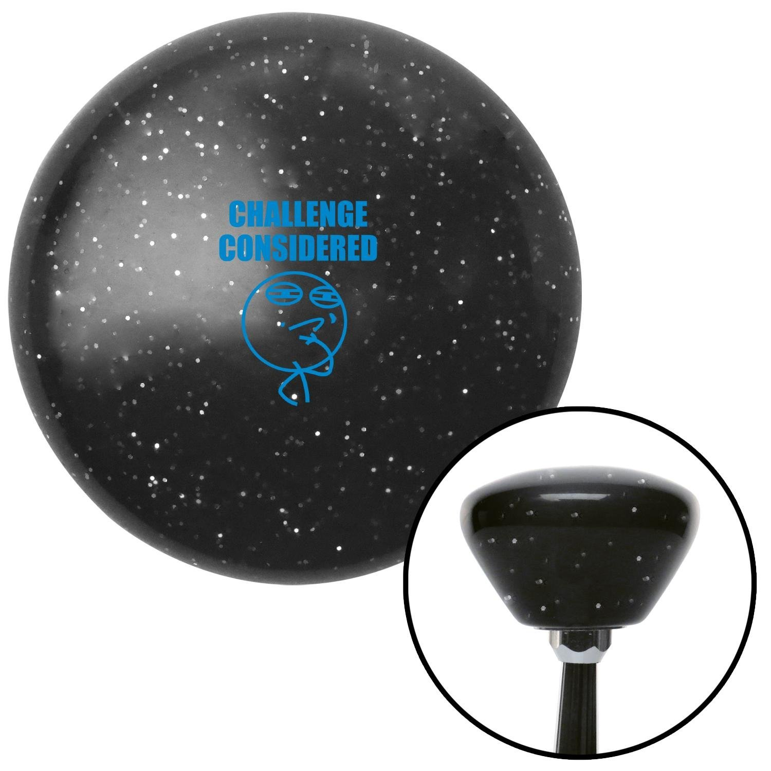 Blue Challenge Considered Black Retro Metal Flake with M16 x 1.5 Insert American Shifter 287061 Shift Knob