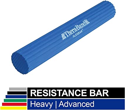 Relieve Tendonitis Pain /& Improve /& Tennis Elbow Therapy Bar TheraBand FlexBar